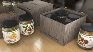 clean-nut-butter-label-design-3d-package-jar-simulation-3dartstudio