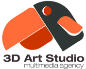 3D Art Studio Logo