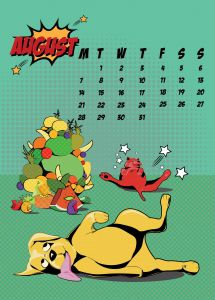 popart-illustrated-vector-calendar-2017-petshop-august