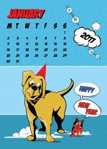 popart-illustrated-vector-calendar-2017-petshop-january