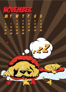 popart-illustrated-vector-calendar-2017-petshop-november