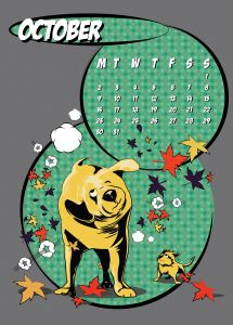popart-illustrated-vector-calendar-2017-petshop-october