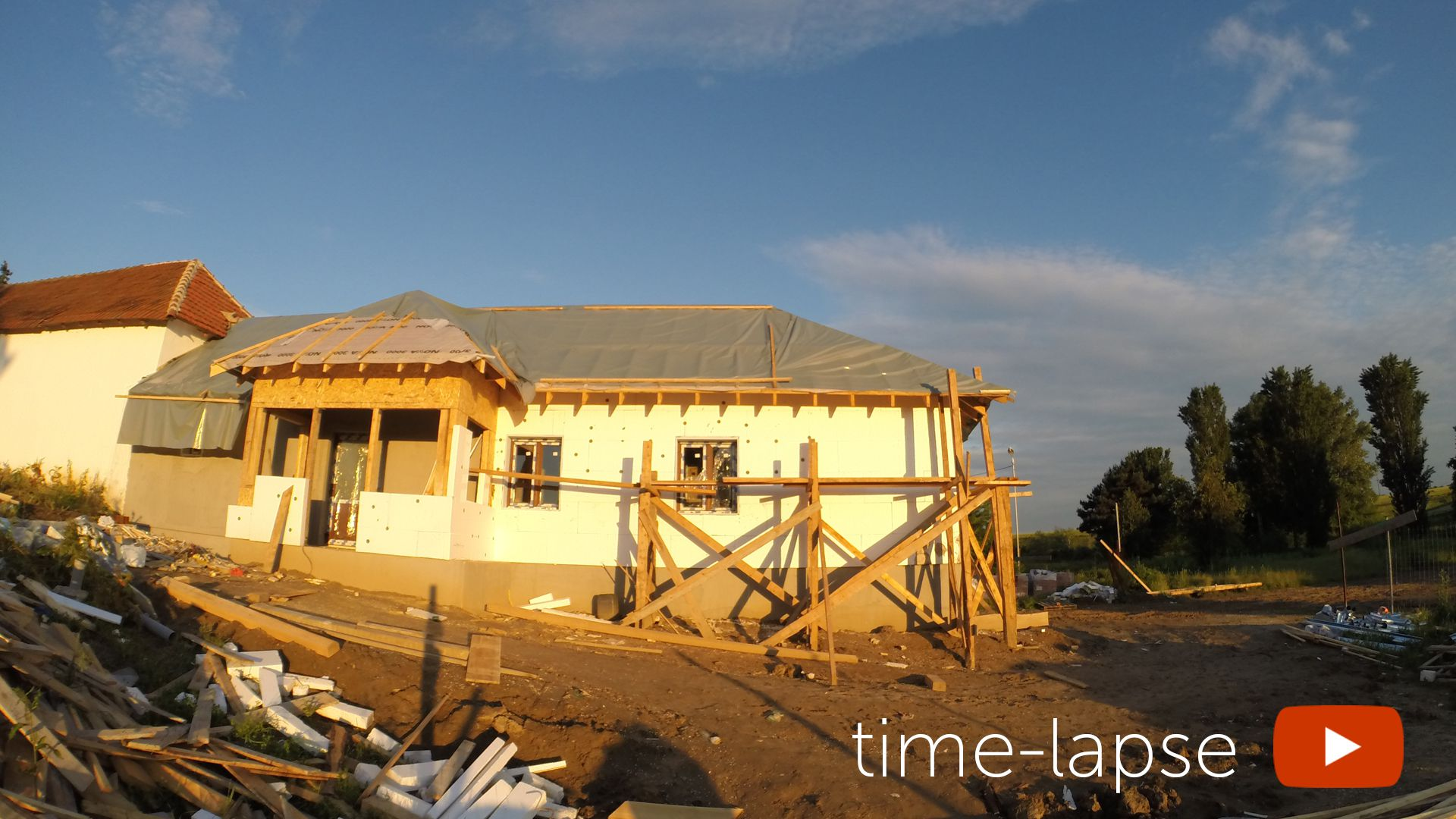 Time-lapse house 4k video sequence
