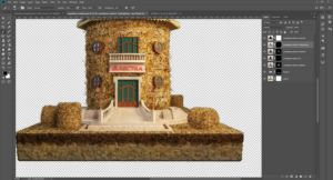 3D-Editing-design-agriculture-concept-wheat-library-work-in-progress-3DArtStudio