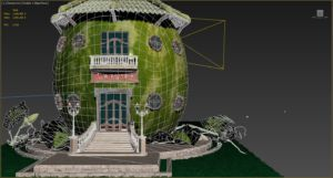 3D-modeling-rendering-agriculture-concept-watermelon-building-library-work-in-progress-3DArtStudio