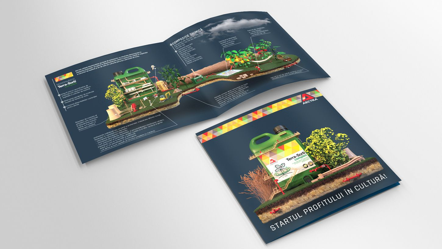 tri-fold-flyer-3d-modeling-mockup-products-agriculture-terrasorb-rebranding-graphic-design-3DArtStudio